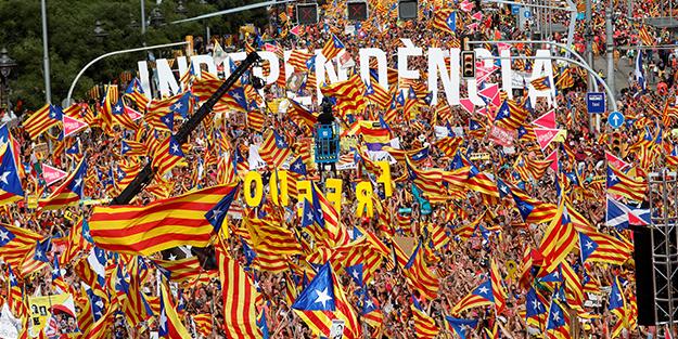 1 milyon Katalan meydanlara çıktı!