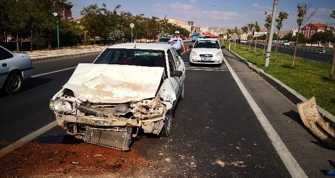 Aksaray'da trafik kazası: 1 kişi yaralandı