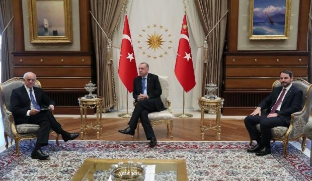 Başkan Erdoğan, dev bankanın başkanıyla görüştü