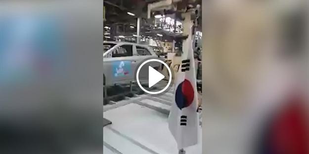 Hyundai fabrikası Mehter Marşı ile inledi