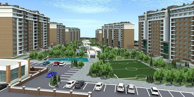Konya'da bin 500 konutluk yaşam alanı
