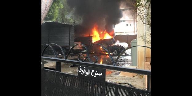 Hamas yetkilisinin yakınında büyük patlama!