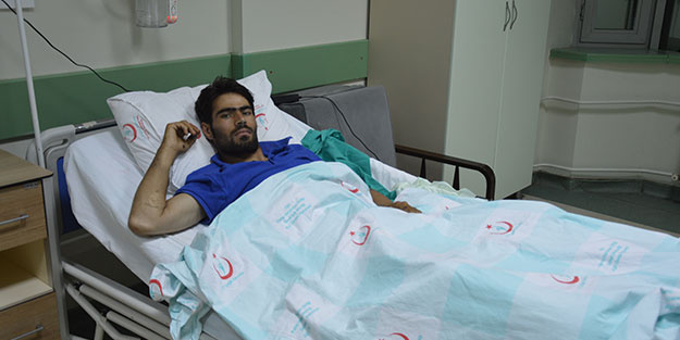 Mayına basan Afganistan uyruklu göçmen bacağını kaybetti