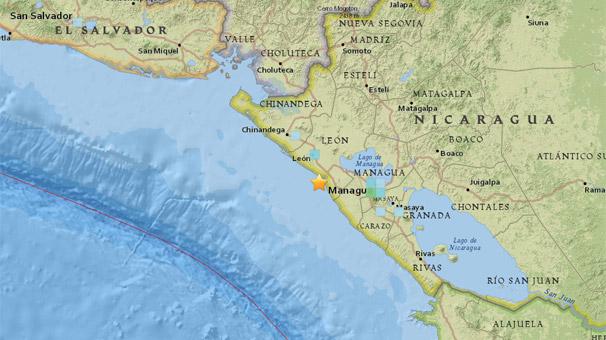 Nikaragua'da 5.3 şiddetinde deprem meydana geldi