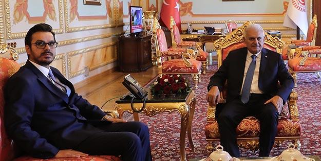 TBMM Başkanı Yıldırım, İbrahim Eren'i kabul etti