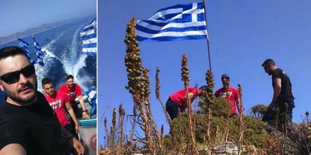 Bayrağı indirilen Yunan iyice çıldırdı