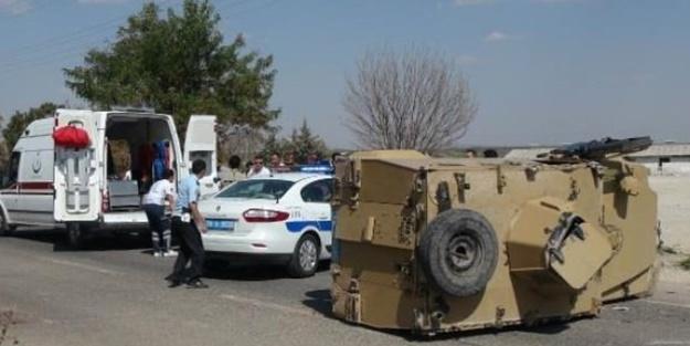 Zırhlı polis aracı kaza yaptı! Yaralılar var