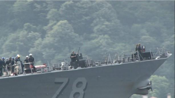 ABD savaş gemisi İstanbul'da! Twitter'dan açıklama yaptılar