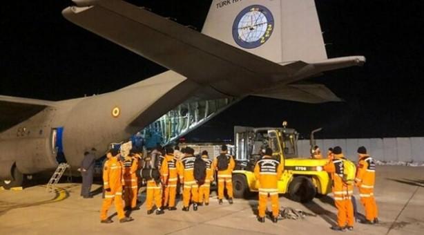 arama kurtarma ekipler uçakla taşındı ile ilgili görsel sonucu
