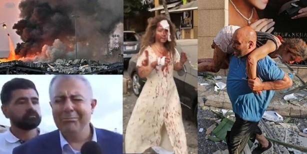 Beyrut Valisi gözyaşlarına boğuldu! Onlarca ölü binlerce yaralı var