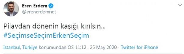 Foto - CHP'li Eren Erdem, Twitter'dan yaptığı paylaşımda,
