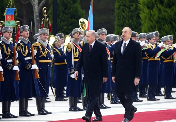 Foto - Erdoğan ve Aliyev ile törenin ardından ikili görüşmeye geçti.