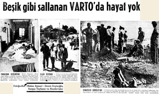 Foto - Varto Depremi (1966) - 6.7 19 Ağustos 1966 Muş / Varto merkezli meydana gelen 6.7 şiddetinde kidepremde 2396 kişi hayatını kaybetti.