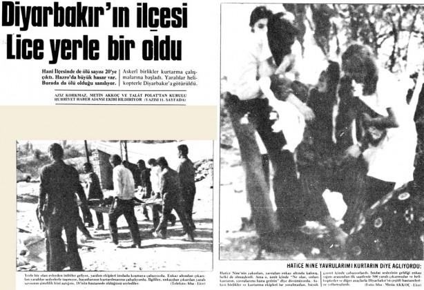 Foto - Lice Depremi (1975) - 6.6 6 Eylül 1975 Diyarbakır / Lice merkezli meydana gelen 6.6 şiddetindeki depremde 2385 kişi hayatını kaybetti.