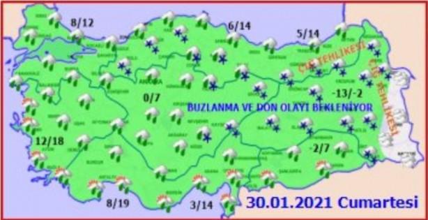 Foto - Akdeniz ve Güneydoğu parçalı bulutlu; Adana 16, Gaziantep 10 derece. Çarşamba akşamı Akdeniz'de şiddetli yağmur yağması bekleniyor.