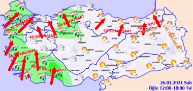 Foto - Marmara, Ege, Batı Akdeniz, Batı Karadeniz'in batısı ile Eskişehir, Çankırı, Ankara, Yozgat ve Kastamonu çevrelerinin sağanak geçişli olacağı, Ege ve Batı Akdeniz kıyı kesimlerinin yer yer gök gürültülü sağanak yağış görüleceği tahmin ediliyor. Yurdun kuzey ve batı kesimlerini ise parçalı, yer yer çok bulutlu olması bekleniyor.