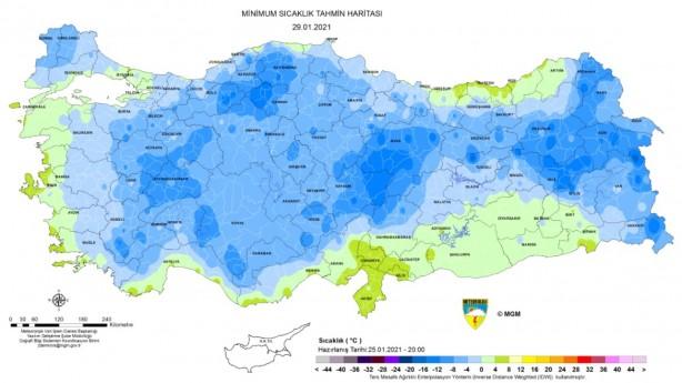 Foto - Meteoroloji tarafından paylaşılan günlük hava durumu tahminininde ise şu bilgilere yer verildi.