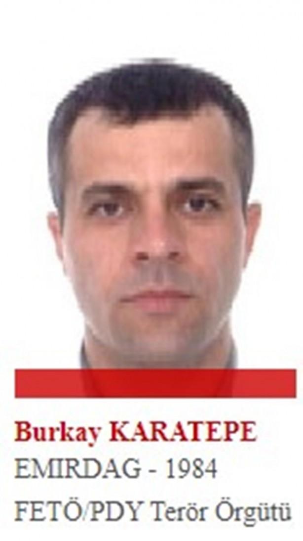 Foto - Darbe girişimi gecesinde Muğla'nın Marmaris ilçesinde bulunan Cumhurbaşkanı Recep Tayyip Erdoğan'a suikast girişiminde bulunan hainler arasındaki tek firar eden eski yüzbaşı Burkay Karatepe'nin de aralarında olduğu 37 kişilik suikast timi, 2 polisi şehit etmişti. 37 kişiden 36'sı yakalanırken Karatepe kaçmayı başardı. Muğla'da tatilci gibi gizlenerek Eskişehir'e kaçan ve izini kaybettiren hain yüzbaşının yurt dışına kaçmış olma ihtimaline karşı kırmızı bülten çıkarıldı.