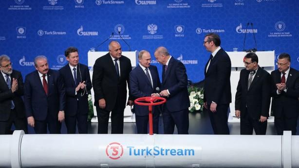 Foto - Cumhurbaşkanı Recep Tayyip Erdoğan ve Rusya Devlet Başkanı Vladimir Putin'in katılımıyla İstanbul'da düzenlenen törenle Rus doğal gazını Türkiye'ye ve Türkiye üzerinden Avrupa'ya nakledecek TürkAkım doğal gaz boru hattı 8 Ocak'ta açıldı.