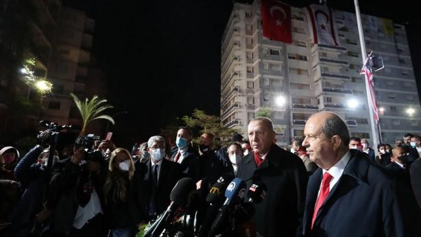 Foto - Kasım ayında KKTC'de 46 yıldır kapalı tutulan Maraş bölgesi kademeli olarak açıldı Cumhurbaşkanı Recep Tayyip Erdoğan, 15 Kasım'da KKTC'de 46 yıldır kapalı tutulan, kademeli açılma kararı alınan Maraş bölgesini ziyaret etti.