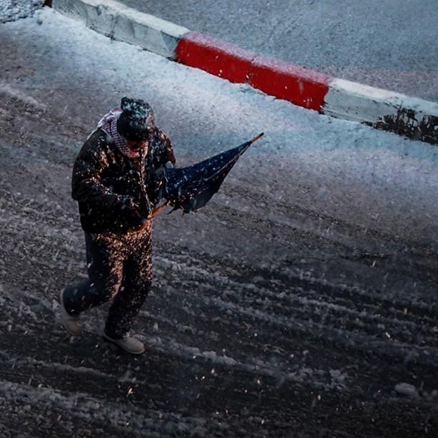 Foto - Kar yağışı, kentin bir kesiminde ise hayatı kısmen de olsa olumsuz etkiledi.
