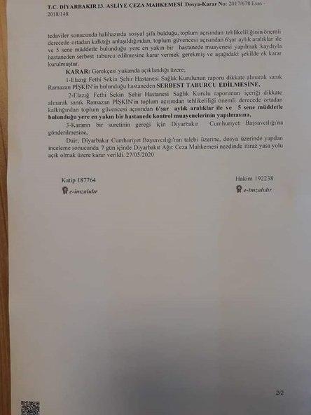 Foto - Mahkeme kararın devamında Filozof Ramazan'ın tedavisinin devamlılığı kapsamında bulunduğu şehirde 6'şar ay aralıklar halinde 5 sene boyunca kontrollerinin yapılması gerektiğini belirtti.