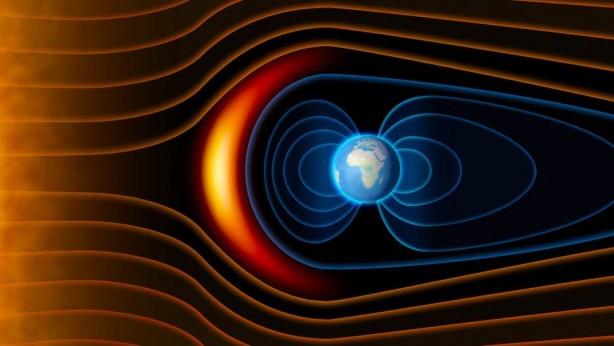 Manyetik Kuzey Kutbu, Dünya'nın manyetik alanının dikey olarak aşağıya doğru baktığı konveksiyon akımları ile Dünya'nın iç kısmında bulunan erimiş sıvı metallerin oluşturduğu bir nokta.