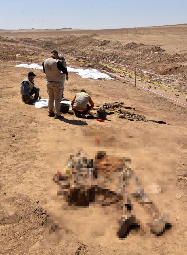 Irak'ta terör örgütü DEAŞ katliamı! Toplu mezar bulundu