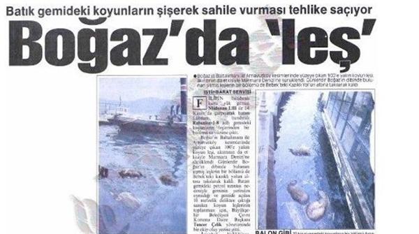 Foto - 1994'te Nassia tankeri ile M/V Shipbroker çarpıştı. Nassia'dan sızan petrolün tetiklediği yangın 4 günde söndürülebildi ve 29 mürettebattan 6'sı hayatını kaybetti. 2002'de Malta bayraklı Gotia, Emirgan İskelesi'ne çarptı.