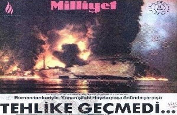 Foto - 14 KASIM 1991 İstanbul Boğazı'nda koyun yüklü Lübnan bandıralı gemi ile Filipin bandıralı gemi çarpıştı. Kazada 22.000 koyun İstanbul Boğazı'nın sularına gömüldü. 22 bin baş koyun boğularak telef oldu.