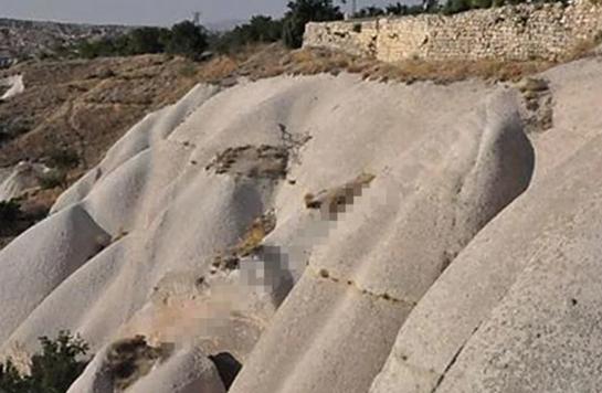 Kapadokya yakınlarında tepki çeken görüntü