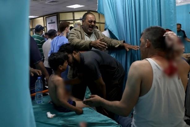 Foto - Gazze'ye düzenlenen hava saldırısında, yaralı sayısı ise 331'e yükseldi.