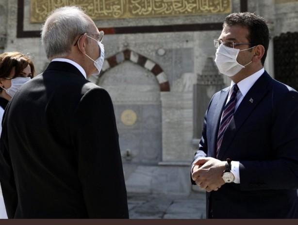 Foto - Kılıçdaroğlu'nun maskesini ters takması, sosyal medyanın gözünden kaçmadı.