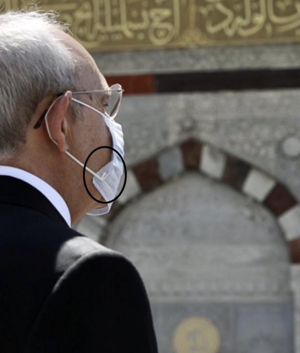 Foto - Yürüyen merdivenden aşağı çıkan Kılıçdaroğlu, maskesini de tersten taktı.