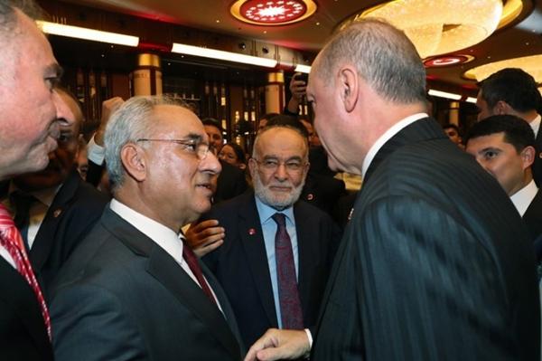 Foto - DSP Genel Başkanı Önder Aksakal ve Saadet Partisi Genel Başkanı Temel Karamollaoğlu