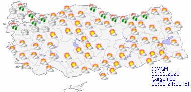 Foto - İşte Meteoroloji Genel Müdürlüğü'nün paylaştığı 5 günlük hava durumu raporu...