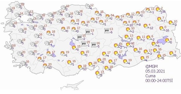 Foto - Kar ve yağmur yağışlarıyla başlayan Mart ayının ilk haftası güneşli hava ile bitecek. Özelikle yurdun Doğu bölümü tamemen güneşle tanışacak. Batı'da ise hava parçalı bulutlu olacak. Karadeniz, Ege ve Akdeniz'de de vatandaşlar güneşli havanın tadına varacak.
