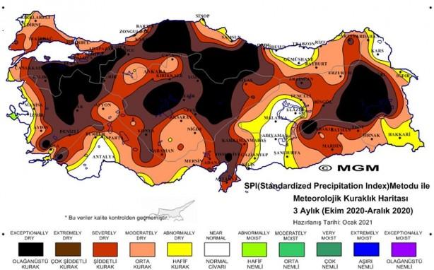 Foto - KURAKLIK TEHDİDİ BÜYÜYOR - Türkiye'de yaşanan küresel ısınmaya bağlı hem kar hem de yağmur yağışlarında yaşanan bu meteorolojik kuraklık, başta tarım sektörü olmak üzere büyük endişe oluşturdu. Tarımda 75- 80'in üzerinde vahşi tarımsal sulama kullanımı, baraj- göletler, zirai ilaç kalıntıları, evsel ve sanayi atıklar nedeniyle kirletilmesi gibi nedenlerle hızla yok olan tatlı su kaynakları ve göller, son yıllardaki yağışların giderek azalmasıyla da büyük bir kuraklık tehdidi büyüyor.