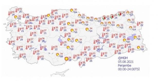 Foto - İç Anadolu:Az bulutlu ve açık geçeceği tahmin ediliyor. Batı Karadeniz:Az bulutlu ve açık geçeceği tahmin ediliyor.