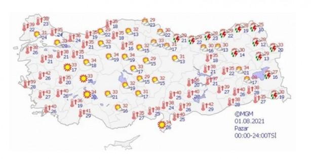Foto - Orta ve Doğu Karadeniz: Parçalı bulutlu, Orta ve Doğu Karadeniz kıyıları ve Artvin çevreleri ile Samsun'un doğu ilçelerinin sağanak ve gök gürültülü sağanak yağışlı geçeceği tahmin ediliyor. Doğu Anadolu:Parçalı ve az bulutlu, öğleden sonra ve akşam saatlerinde bölgenin doğusunun sağanak ve gök gürültülü sağanak yağışlı geçeceği tahmin ediliyor. Güney Anadolu: Az bulutlu ve açık geçeceği tahmin ediliyor.