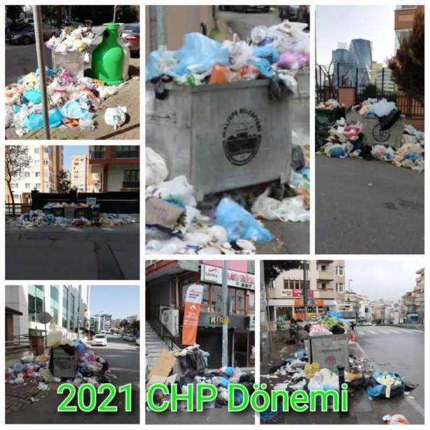 Foto - İstanbul'da CHP'nin yönettiği bazı belediyelerde toplu iş sözleşmesi görüşmelerinden bir sonuç çıkmayınca alınan peş peşe grev kararlarının ardından sokaklarda çöp yığınları oluştu, konteynerler doldu taştı.