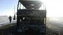 Kazakistan'da otobüs alev aldı: 52 ölü