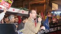 Rusya'nın Halep'teki katliamları protesto edildi