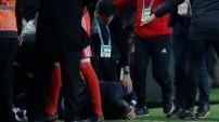 Utanç verici görüntüler... Futbol rezaleti...