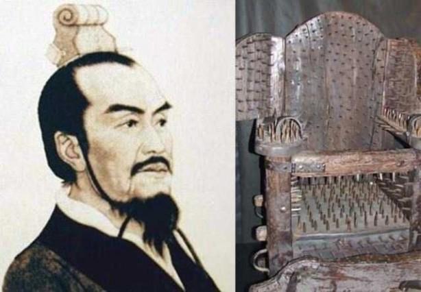 Foto - Li Si (Milattan önce 280-208) İCADI: İşkence sandalyesi... SONU: İşkence aletini geliştirdikten sonra vatan haini ilan edilerek kendi icadıyla öldürüldü.