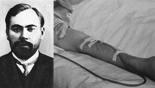 Foto - Alexander Bogdanov (1873-1928) İCADI: Kan Nakli... SONU: Kan nakli için kendini denek olarak kullanınca, asistanından kaptığı sıtma ve verem nedeniyle hayatını kaybetti.
