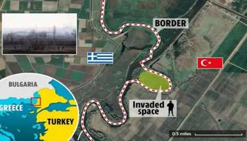 Foto - The Sun gazetesi, Türkiye'nin, sınırın Yunanistan tarafında kaldığını iddia ettiği 16 dönümlük alanı işgal ettiğini yazdı.