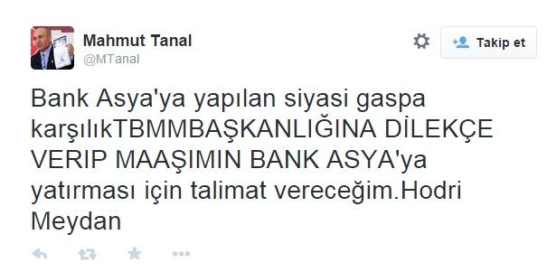 CHP'li vekilden Bank Asya'ya destek! - Yeni Akit