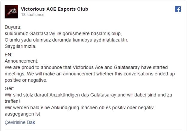 Victorious ACE e-spor kulübü