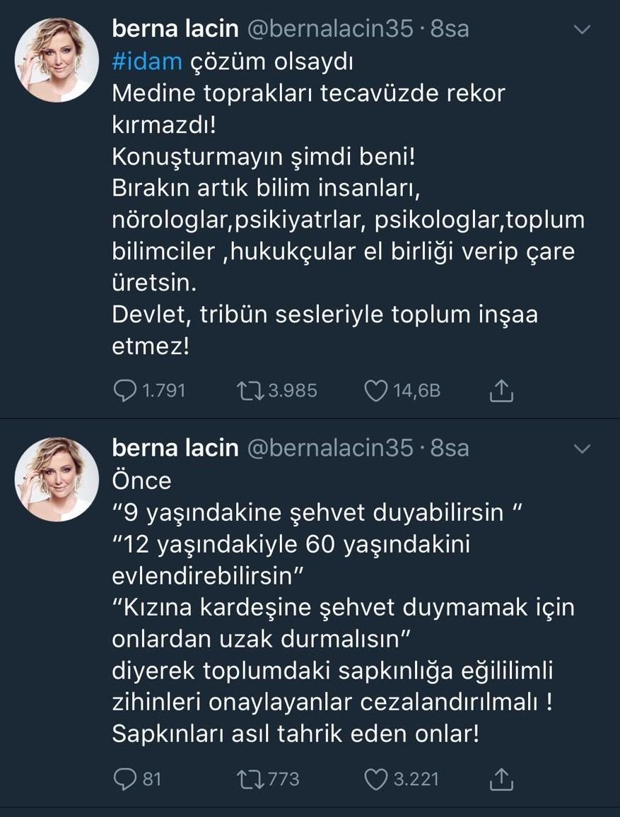 Berna Laçin hakarete uğradı